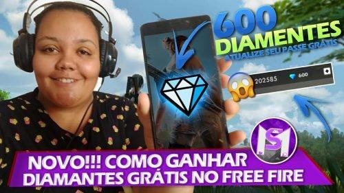 COMO GANHAR DIAMANTES NO FREE FIRE DE GRAÇA