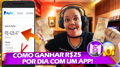 COMO GANHAR R$25 POR DIA COM UM APLICATIVO