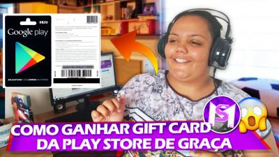 COMO GANHAR GIFT CARD DA GOOGLE PLAY DE GRAÇA