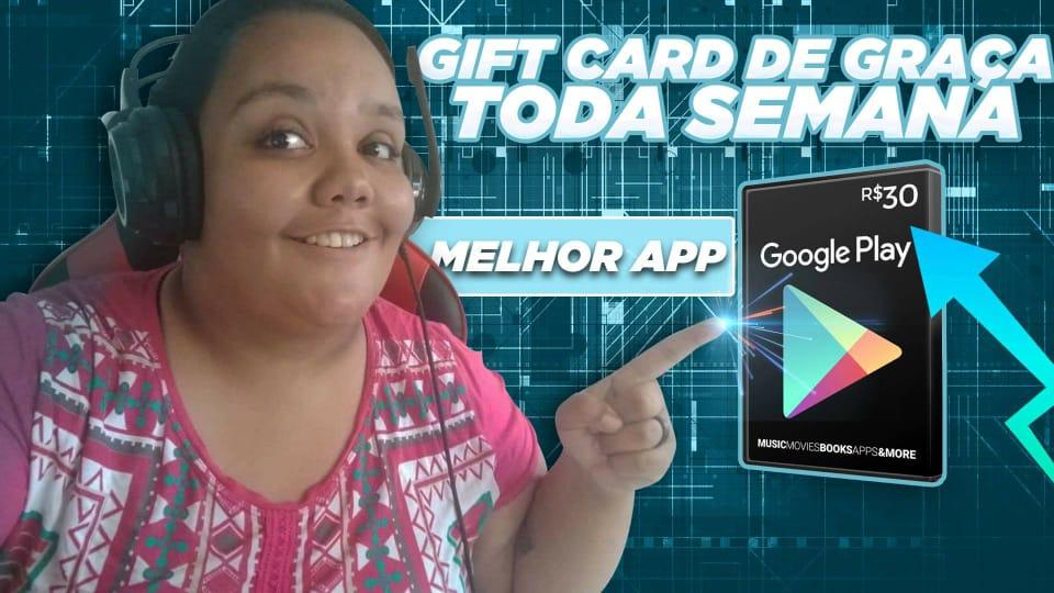MELHOR APLICATIVO PARA GANHAR GIFT CARD DE GRAÇA TODA SEMANA