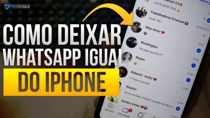 SAIU!! Como Deixar Whatsapp Do ANDROID Igual Do IPHONE 2019