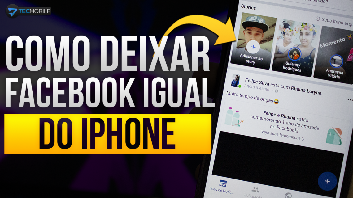 SAIU! Facebook Do Android IGUAL Ao Do IPHONE X 2019